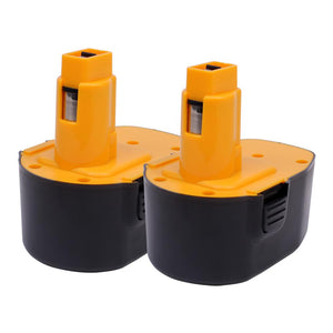 For Dewalt 14.4V Battery Replacement | DC9091 2.0Ah Ni-CD Battery 2 Pack