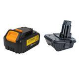 For Dewalt 20V 6.0Ah Battery Replacement With 18v to 20v Adaptor | Special Combo
