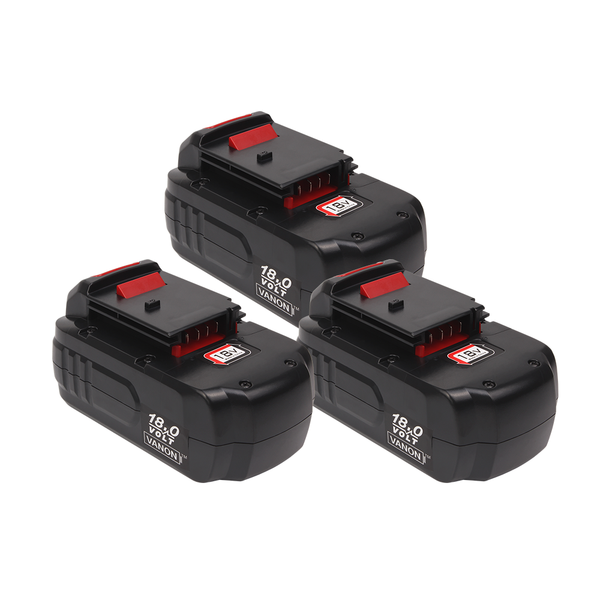 3 Pack For Porter Cable 18V Battery Replacement | PC18B 2.0Ah Ni-Cd Battery