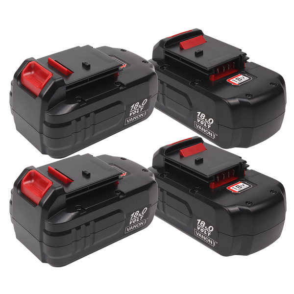 4 Pack For Porter Cable 18V Battery Replacement | PC18B 2.0Ah Ni-Cd Battery - Vanonbattery