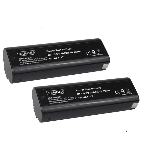 For Paslode 6V Battery Replacement | 404717 2.0Ah Ni-CD Battery 2 Pack - Vanonbattery