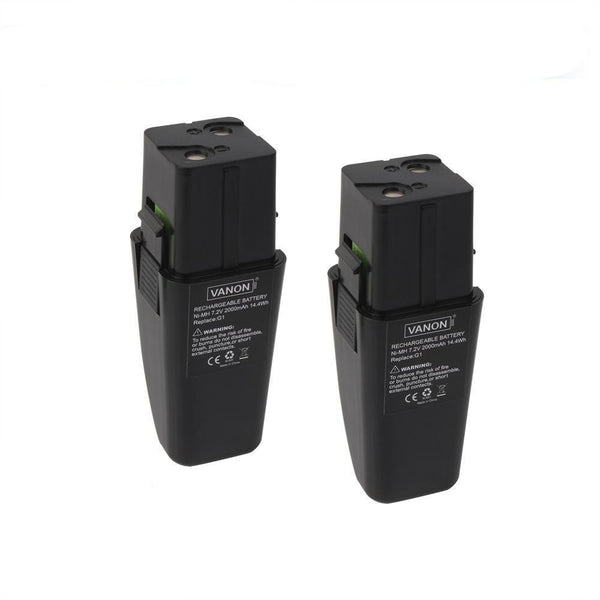 For Ontel Swivel Sweeper 7.2V Battery Replacement | G1 & G2 2.0Ah Ni-MH Battery 2 Pack - Vanonbattery