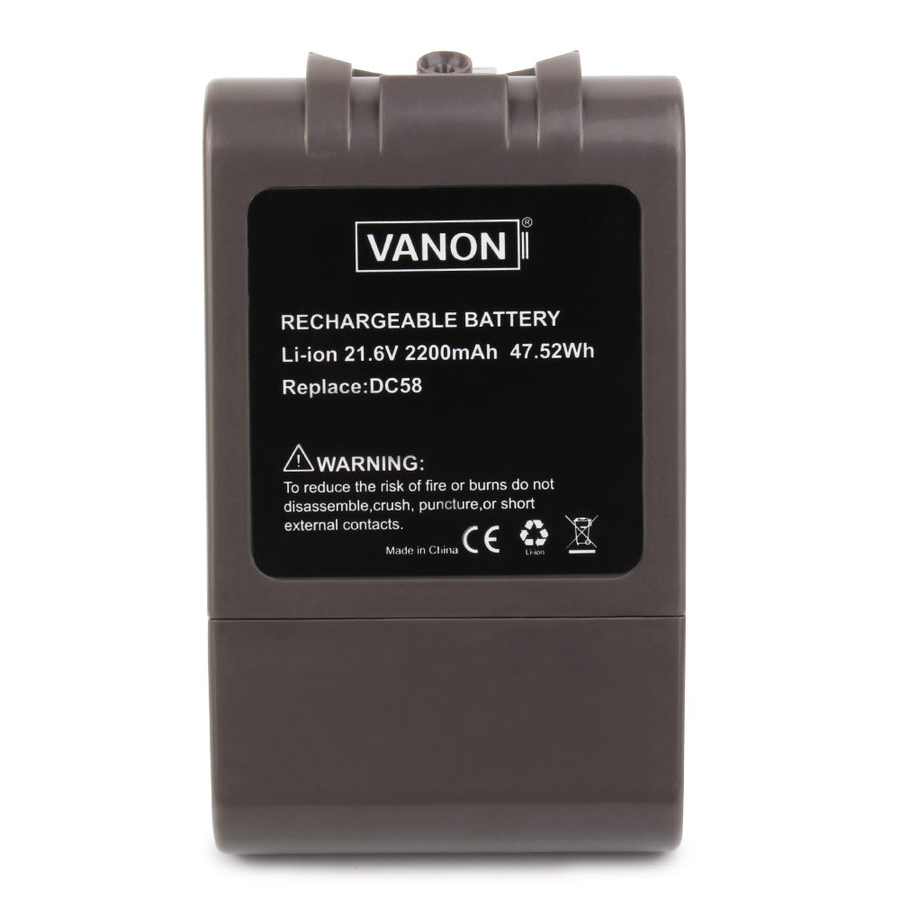 2 Pack Replacement Battery for Dyson  DC58 Animal DC72 Series  (2200mAh, 21.6V, Li-ion) - Vanonbattery