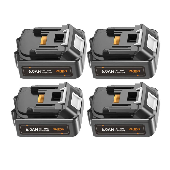 For Makita 18V Battery 6Ah Replacement | BL1860 Battery 4 Pack