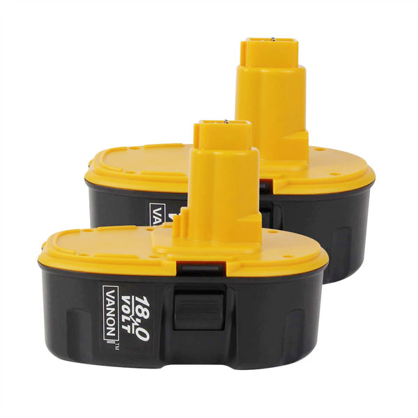 For Dewalt 18V XRP Battery Replacement | DC9096 2.0Ah Ni-CD Battery 2 Pack