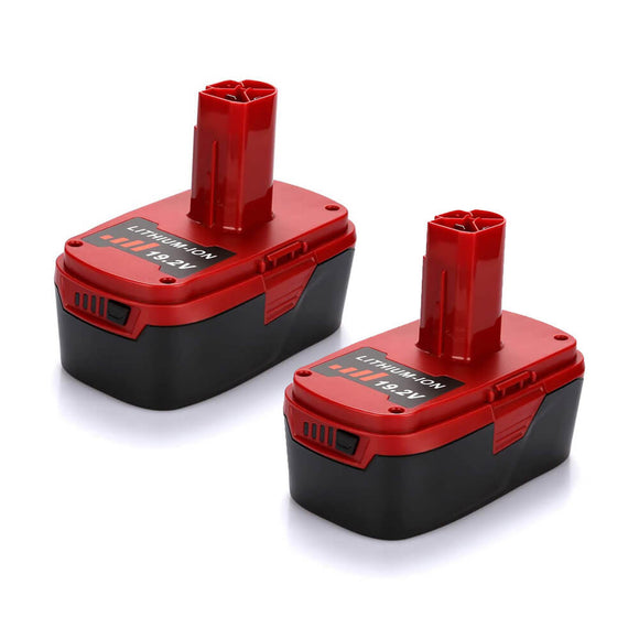 For Craftsman 19.2V battery 6.0Ah Replacement | C3 Lithium Batteries 2 Pack