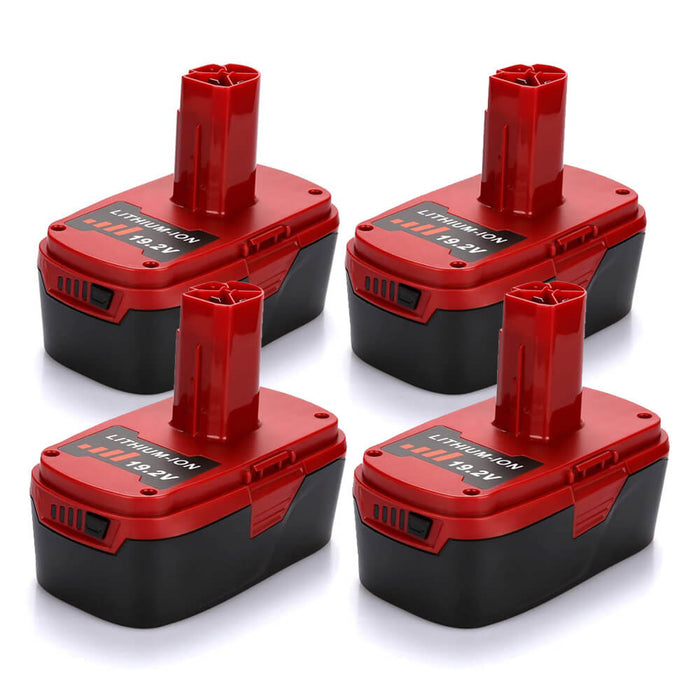 Craftsman 19.2V battery 6.0Ah Replacement | C3 Lithium Batteries 4 Pack | four