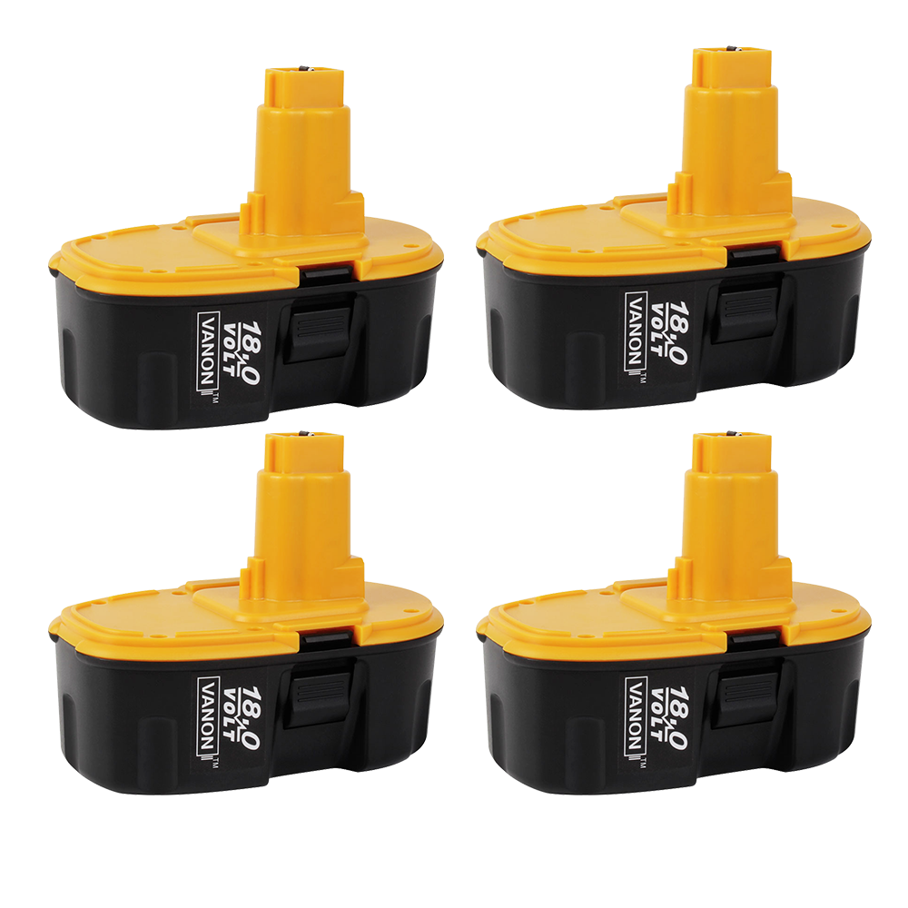 4 Pack For Dewalt 18V XRP Battery Replacement | DC9096 2.0Ah Ni-CD Battery
