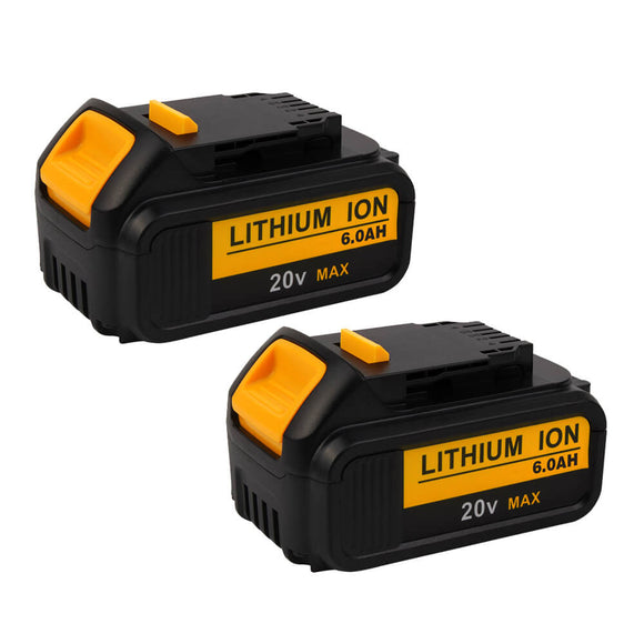 For Dewalt 20V Battery 6Ah Replacement | DCB205 Batteries 2 Pack