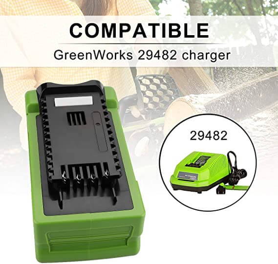 Greenworks Battery 40V 6Ah | For G-MAX 29472 29462 Batteries | charger
