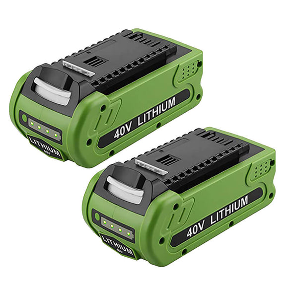 For Greenworks Battery 40V 6Ah | For G-MAX 29472 29462 Batteries 2 Pack (Not for Gen 1)