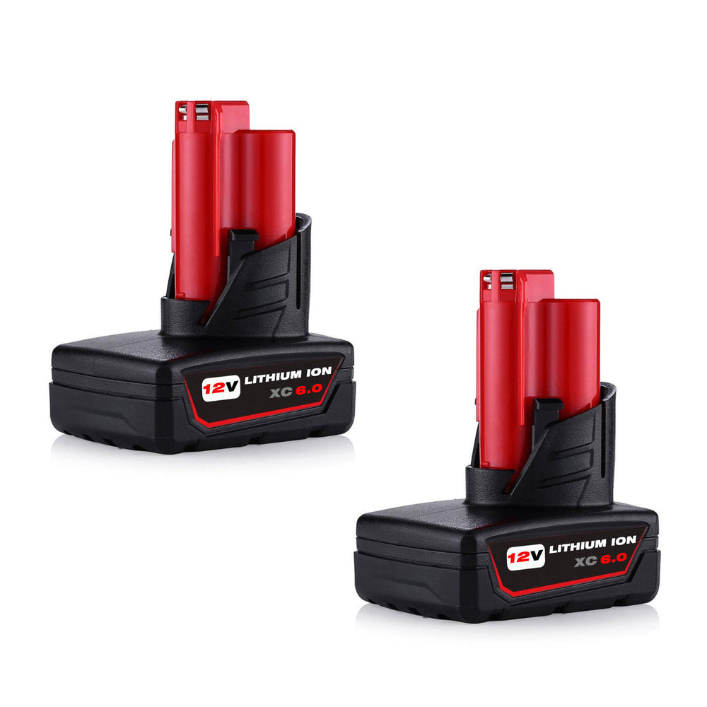 For Milwaukee 12V Battery Replacement | M12 6.0Ah Li-ion 2 Pack | Vanonbatteries