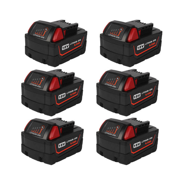 milwaukee-18v-battery-6ah-6-pack