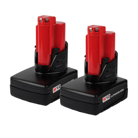 For Milwaukee 12V Battery 5Ah Replacement | M12 Lithium Batteries 2 Pack