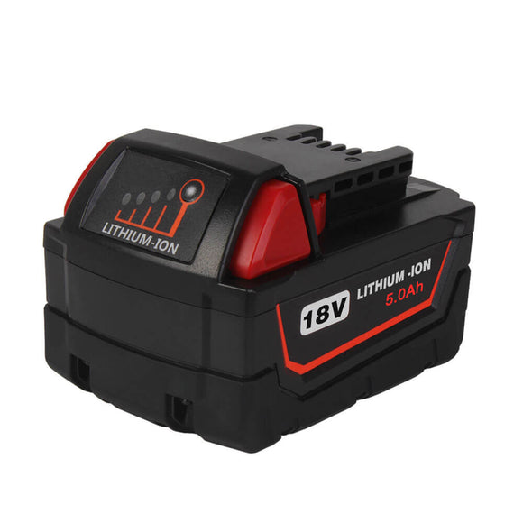 For Milwaukee 18V Battery 5Ah Replacement | M18 Battery