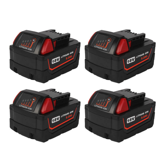 milwaukee-18v-battery-9ah-4-pack