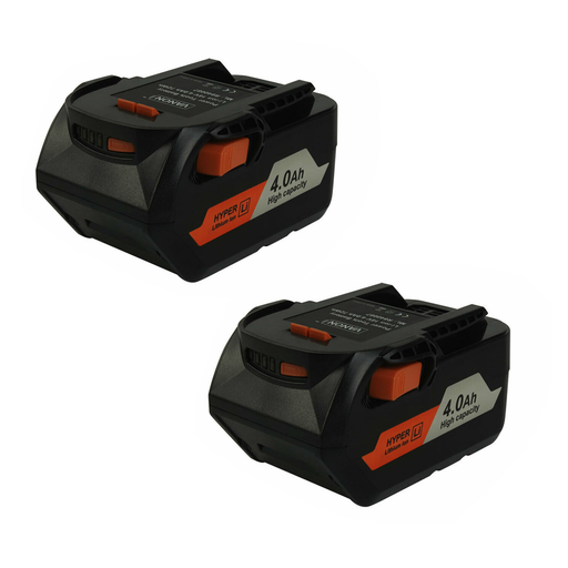 RIDGID 18V | 18V Battery Replacement | R84008 Li-Ion High Capacity Battery 4.0Ah | front