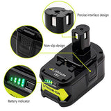 For Ryobi 18V Battery Replacement 4Ah | For Ryobi P108 Battery Lithium 4 Pack
