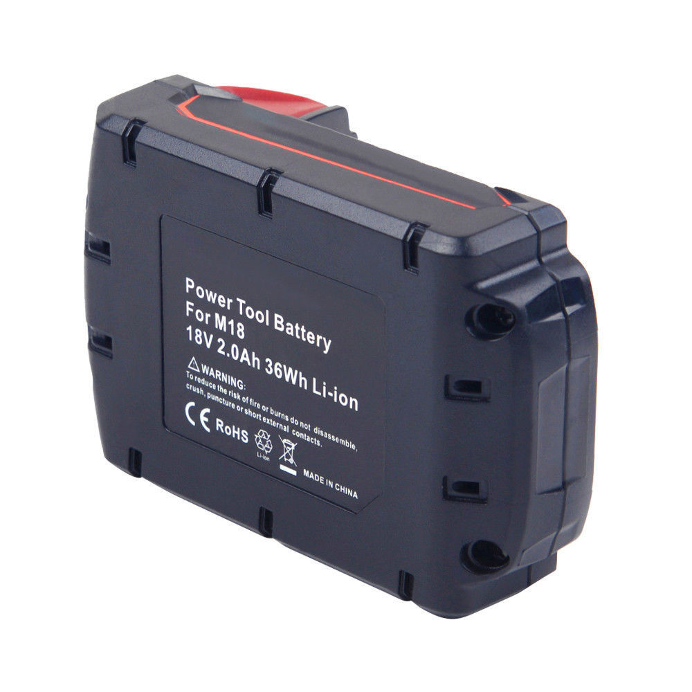 For Milwaukee 18V Battery Replacement | M18 2.0Ah Li-Ion Battery