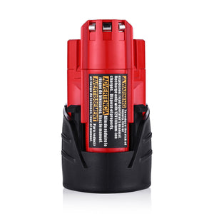 For Milwaukee 12V Battery Replacement | 48-11-2411 2.5Ah