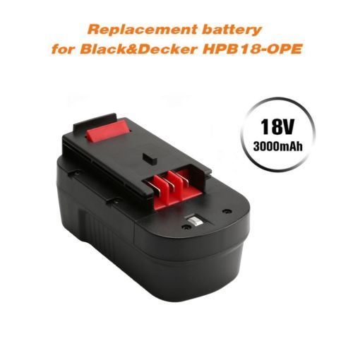 For Black and Decker 18V Battery Replacement | HPB18 3.0Ah Ni-CD 4 Pack