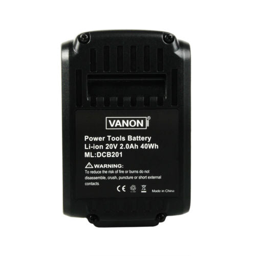 3 Pack For Dewalt 20V DCB200 2.0Ah Battery Replacement | DCB201 Li-ion Battery