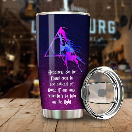 H. Potter Happiness Can be Found Even In The Darkest Of Times Harry Potter Tumbler 20 oz