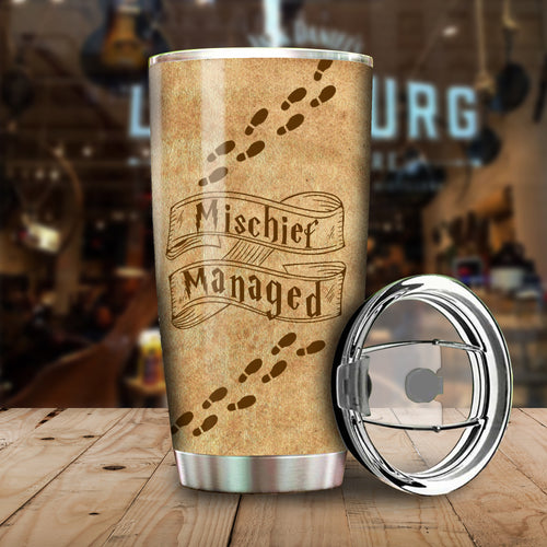 The Marauder's Map Mischief HP Couple Tumbler