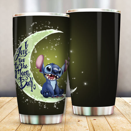 Stitch I Love You To The Moon And Back Tumbler