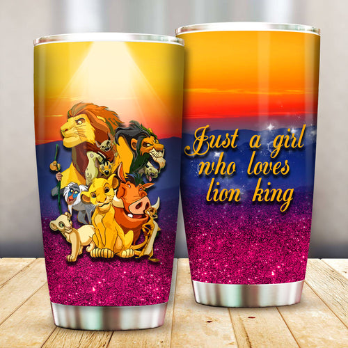 Just a Girl Who Loves Lion LK Simba Tumbler