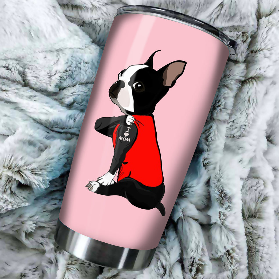Boston Mama Dog Mama Lovers Tumbler