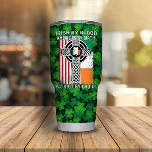 Irish By Blood ST. Patrick's Day Lucky Charms Shamrock Tumbler