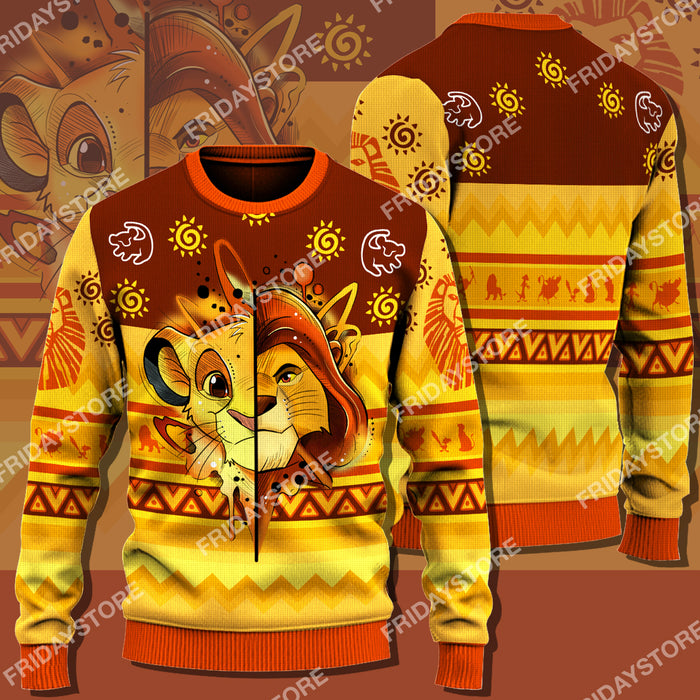 LK Half Lion Christmas Sweater