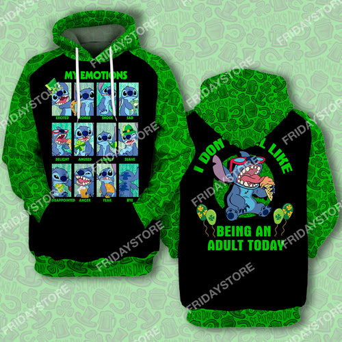 LAS My Emotions St Patrick's Day All Over Print Hoodie T-shirt