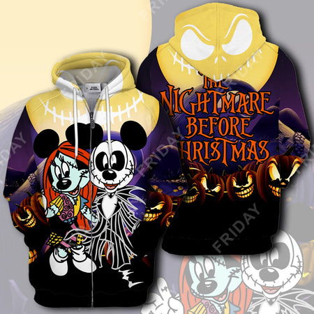 DN Mouse Couple Nightmare All Over Print Hoodie T-shirt