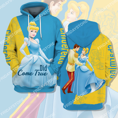 Did Come True Cinderella Couple All Over Print Hoodie T-shirt