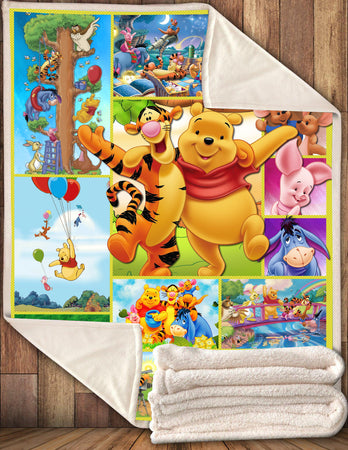 Pooh With Friends Tigger Piglet Eeyore BLANKET