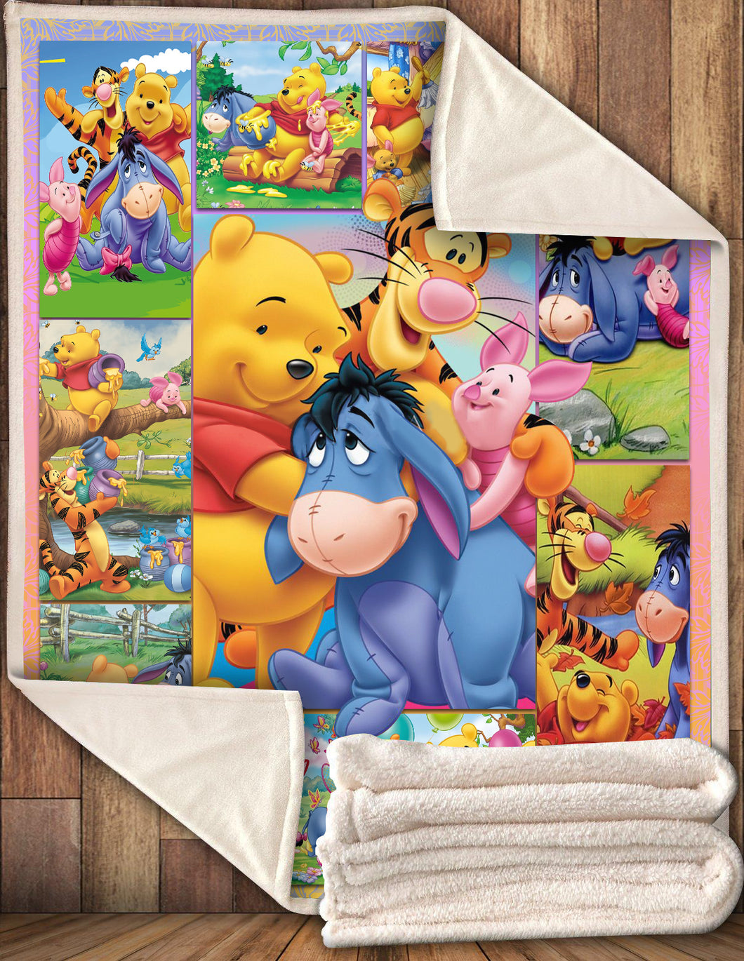 WTP Happy Pooh And Friends 3D Blanket