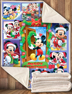 DN House Of Mouses Happy Christmas 3D Blanket