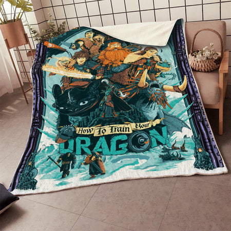 HTTYD Hiccup Family 3D Blanket