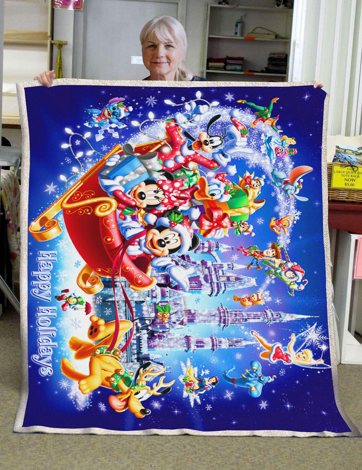 DN Happy Holidays Christmas Blanket