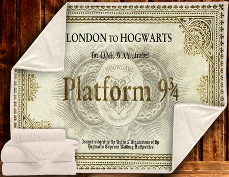 HP LONDON TO HW PLATFORM 9 3/4 BLANKET