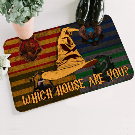 HP Which House Are You Christmas Doormat
