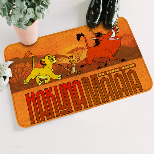 LK Baby Lion And Timon Pumba Hakuna Matata Doormat