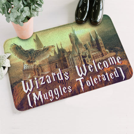 HP Wizards Welcome Muggles Tolerated Doormat
