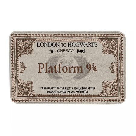 HP Platform 9 3/4 London To Hgwarts Doormat