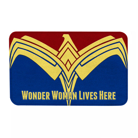 DC W Women Lives Here Doormat