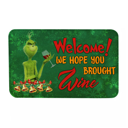 TG Welcome We Hope You Brought Wine Doormat