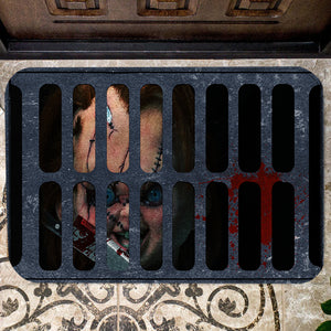 Chucky In Sewer Doormat- Horror Doormat