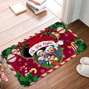 DN Mouse Oh Holy Night Christmas Doormat